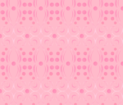 Kristi - Swirl - Pink fabric by katrinazerilli on Spoonflower - custom fabric