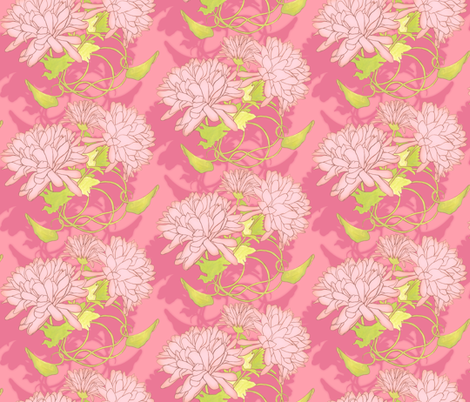 Kristi - Posy fabric by katrinazerilli on Spoonflower - custom fabric