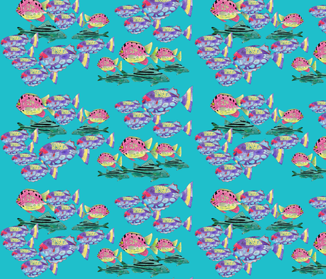 Trendsetters - The Mustache Crew fabric by aftermyart on Spoonflower - custom fabric
