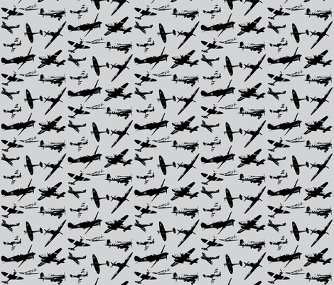 Retro Aviator Rainy Day fabric by smuk on Spoonflower - custom fabric
