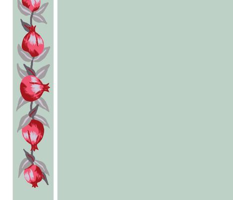 Retro Pomegranates fabric by sylvine on Spoonflower - custom fabric