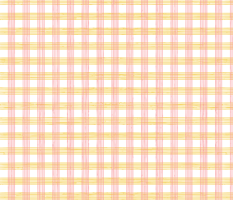 music score plaid - cherry mustard fabric by gingerme on Spoonflower - custom fabric