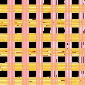 music score plaid - cherry mustard