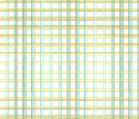 music score plaid - mint mustard fabric by gingerme on Spoonflower - custom fabric