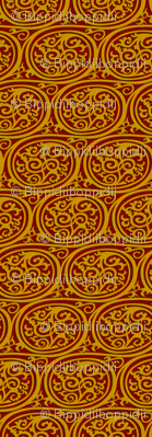 Curlyswirl (red and gold)