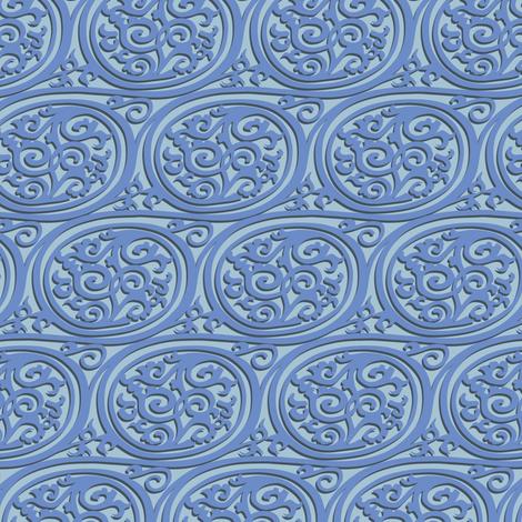 Curlyswirl (blue) fabric by bippidiiboppidii on Spoonflower - custom fabric