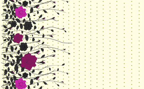 The Pink Rose fabric by candyjoyce on Spoonflower - custom fabric