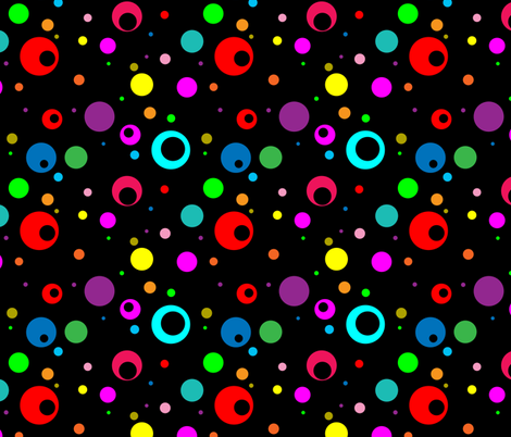 Rainbow Dots fabric by aftermyart on Spoonflower - custom fabric