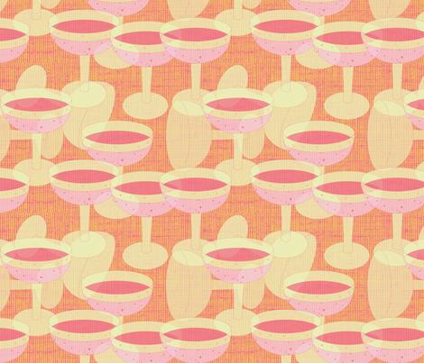 Pink Champagne - 2 fabric by owlandchickadee on Spoonflower - custom fabric