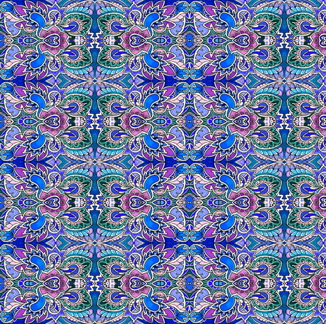 Flying Granny Paisley fabric by edsel2084 on Spoonflower - custom fabric