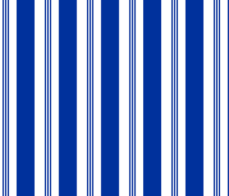 Chair Stripe Cobalt fabric by lulabelle on Spoonflower - custom fabric