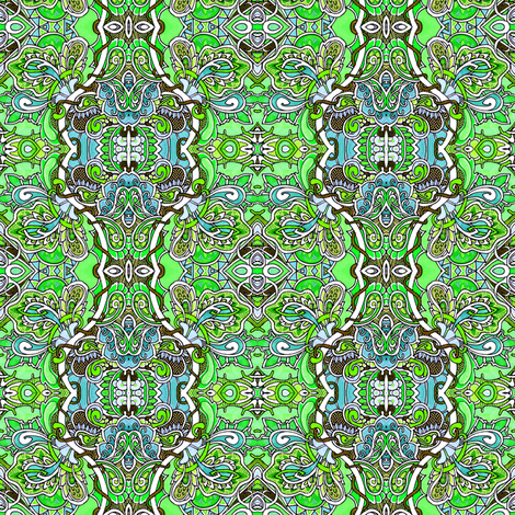 Antidote to the Straight World (in green) fabric by edsel2084 on Spoonflower - custom fabric