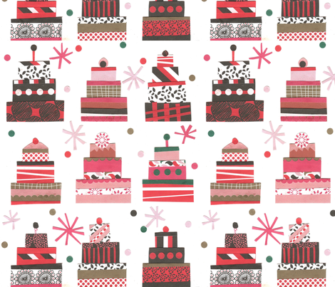 Happy Birthday Cake ! fabric by demigoutte on Spoonflower - custom fabric
