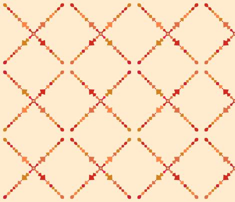 Autumn Mandala fabric by westofthemoon on Spoonflower - custom fabric