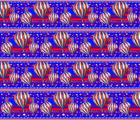 STARS N STRIPES BALLOONS fabric by bluevelvet on Spoonflower - custom fabric