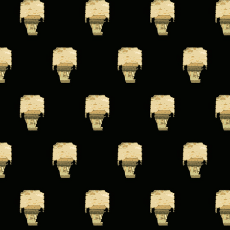 China Forbidden city collection July 8 2012 by evandecraats (black) fabric by _vandecraats on Spoonflower - custom fabric