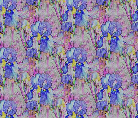 Iristile fabric by rennata on Spoonflower - custom fabric