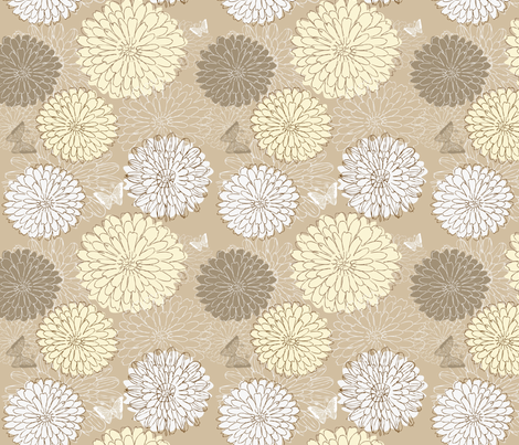 doodle flowers in vector fabric by anastasiia-ku on Spoonflower - custom fabric