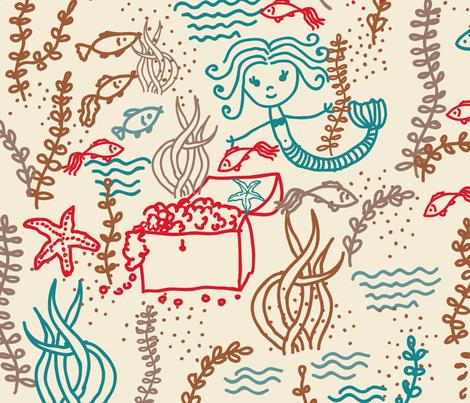 cute mermaids fabric by anastasiia-ku on Spoonflower - custom fabric