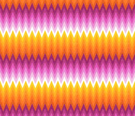 Ombre zig zag orange + pink fabric by veritymaddox on Spoonflower - custom fabric