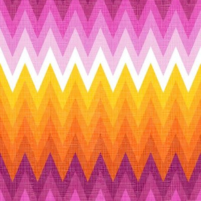 Ombre zig zag orange + pink