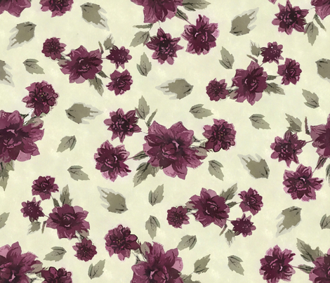 Dahlias on Pale Green fabric by jabiroo on Spoonflower - custom fabric