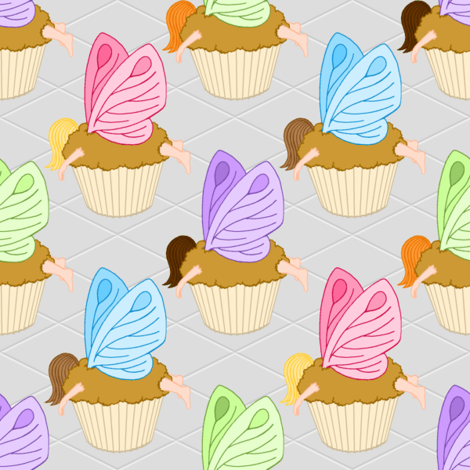 fairy cakes fabric by sef on Spoonflower - custom fabric