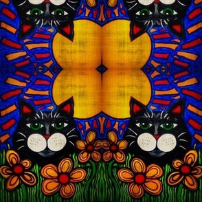 Sunny the Cat Fabric