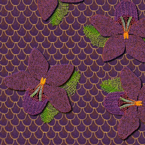 BEADED_ORCHID fabric by glimmericks on Spoonflower - custom fabric