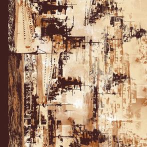 Coming Home - Battleship Border Print