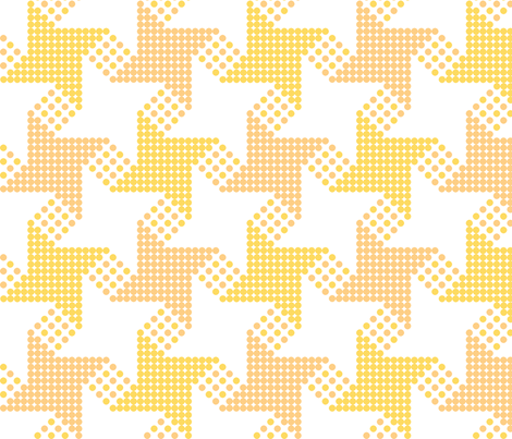 houndstooth - yellow orange fabric by gingerme on Spoonflower - custom fabric