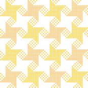 houndstooth - yellow orange