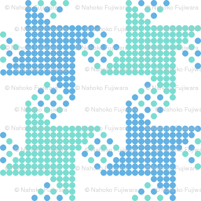 houndstooth - green blue