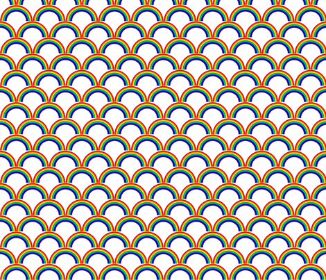 rainbow fabric by weebeastiecreations on Spoonflower - custom fabric