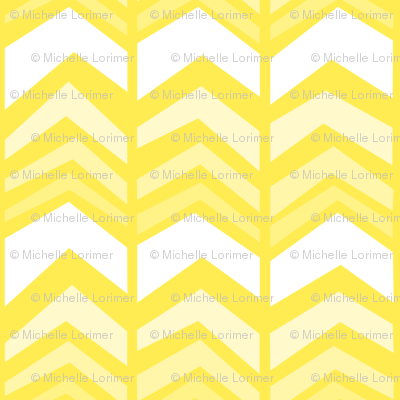deconstructed chevron - yellow