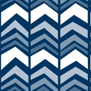 deconstructed chevron - navy