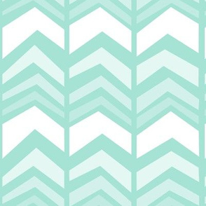 deconstructed chevron - mint