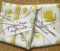 Sprig Stripe Natural - Frolic Collection