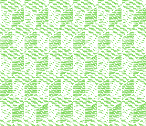 cubes - lime fabric by gingerme on Spoonflower - custom fabric