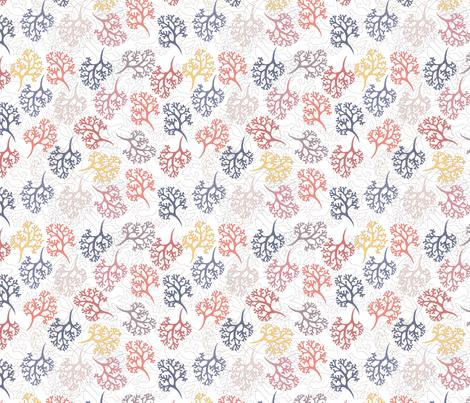 Seaweed on white (Sunset Beach)  fabric by creative_merritt on Spoonflower - custom fabric