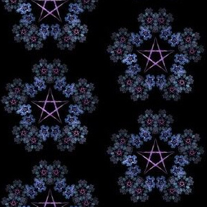 Pentagram Wreath Purple