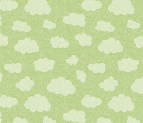 clouds_GREEN fabric by glorydaze on Spoonflower - custom fabric