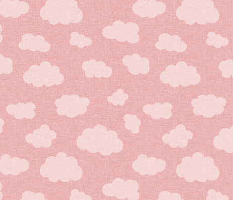 clouds_pink fabric by glorydaze on Spoonflower - custom fabric