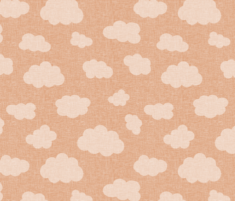 clouds_ORANGE fabric by glorydaze on Spoonflower - custom fabric
