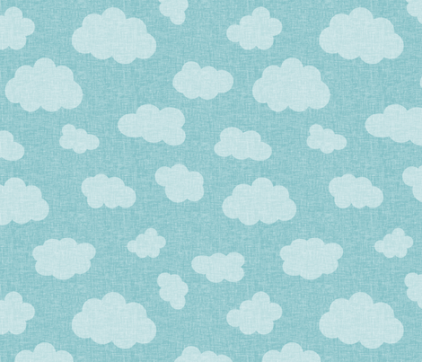 clouds_BLUE fabric by glorydaze on Spoonflower - custom fabric