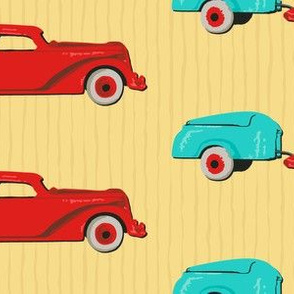 Red Car, Teal Camper