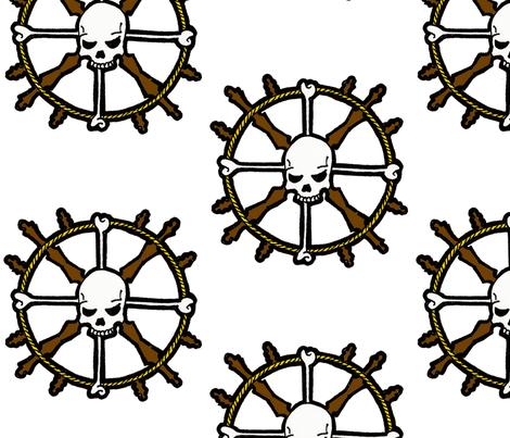 Skull Helm fabric by little_treasures on Spoonflower - custom fabric