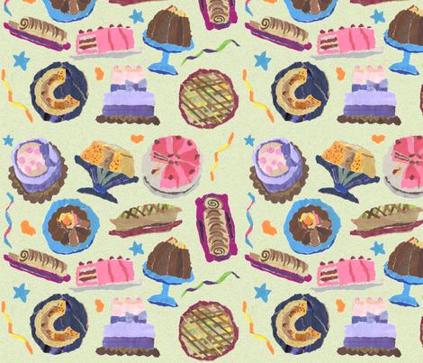 my_cakes_patt_gr fabric by heart_full_of_soul on Spoonflower - custom fabric