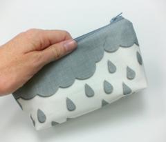 Rainclouds in gray linen