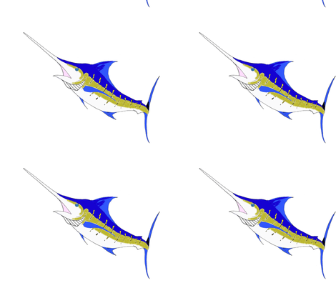 Marlin fabric by little_treasures on Spoonflower - custom fabric